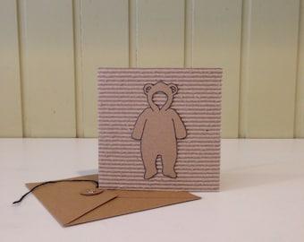 Cardboard Bear Suit Card