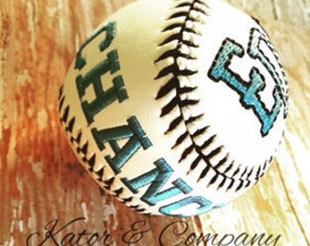 Embroidered Baseball~~Personalized Baseball~~Baseball Baby Gift~~All-stars~~Monogram Baseball