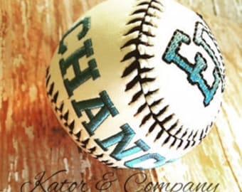 Embroidered Baseball~~Personalized Baseball~~Baseball Baby Gift~~All-stars~~Monogram Baseball