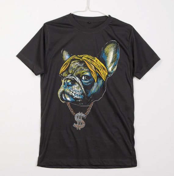 Items Similar To French Bulldog Dog Hip Hop Rapper With
