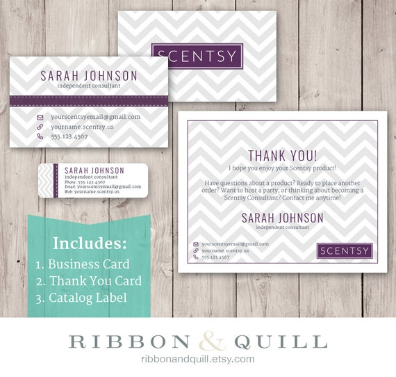 Ribbonandquill scentsy business bundle business card thank you scentsy business bundle business card thank you label custom pdf reheart Images