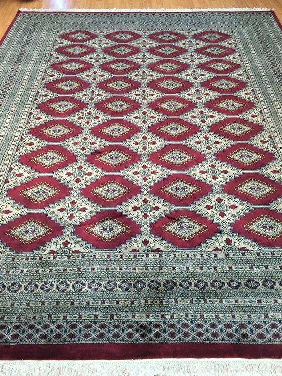 "8'2"" x 10'2"" Pakistani Bokhara Oriental Rug - Hand Made - 100% Wool"