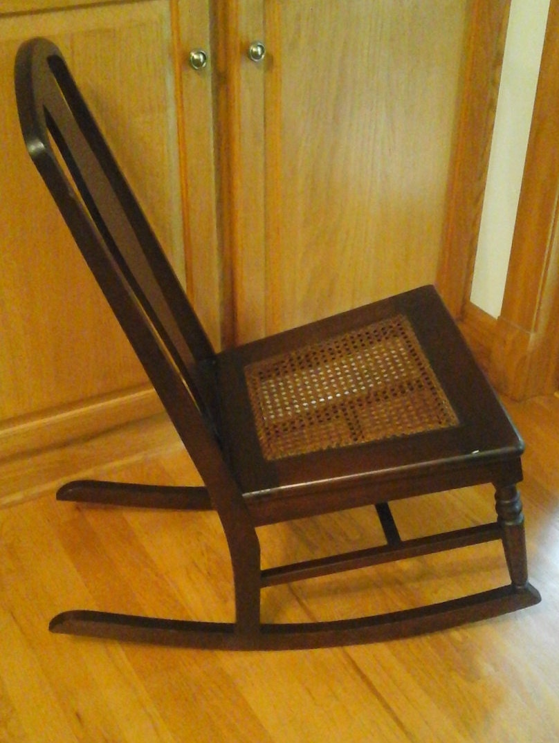 Antique sewing rocking chair -  Nursing Sewing Rocker With Cane Seat Zoom