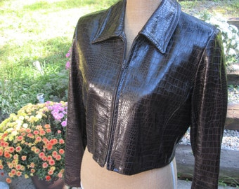 DANIER, Leather Jacket, Brown,  made in CANADA, Mint condition