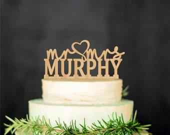 Mr Mrs Wedding Topper Last Name Topper Personalized Wood Cake Topper Custom Wedding Topper Outdoor Wedding