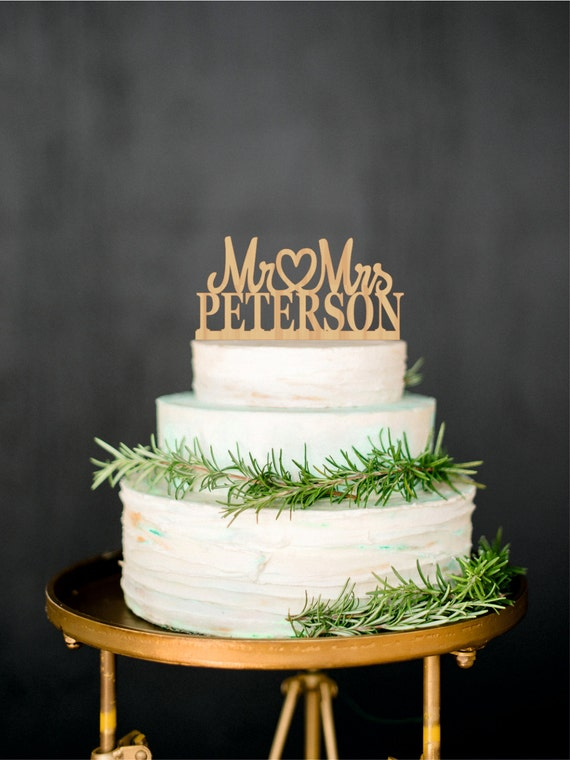 custom wooden wedding cake toppers last name topper personalized wood cake topper custom wedding 13266