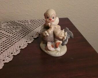 Vintage Lefton Clown Figurine - #05517 (1986)