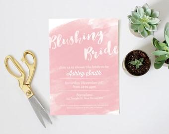Customizable Watercolor Bridal Shower Invitation (Digital File)