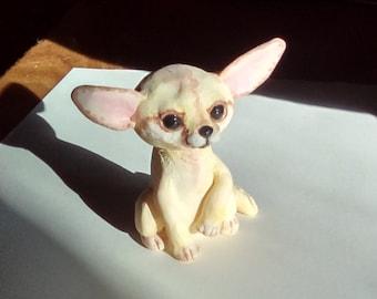 Fennec fox, Fennec fox figurine, Baby fennec fox, Cute animal figurines, hand painted animal