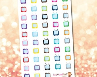 TV / Television Planner Stickers