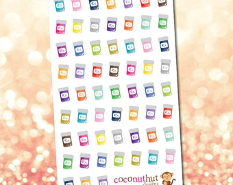 Medicine / Pill Bottle Planner Stickers