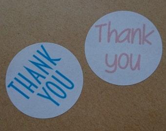 Circular Thank You Labels - Brights or Pastels