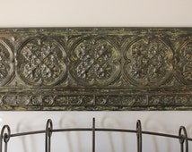 Antique Tin Ceiling Border Tile   Reclaimed Tin Ceiling Tile   Authentic Tin Ceiling Border   Salvaged Tin Ceiling Tile