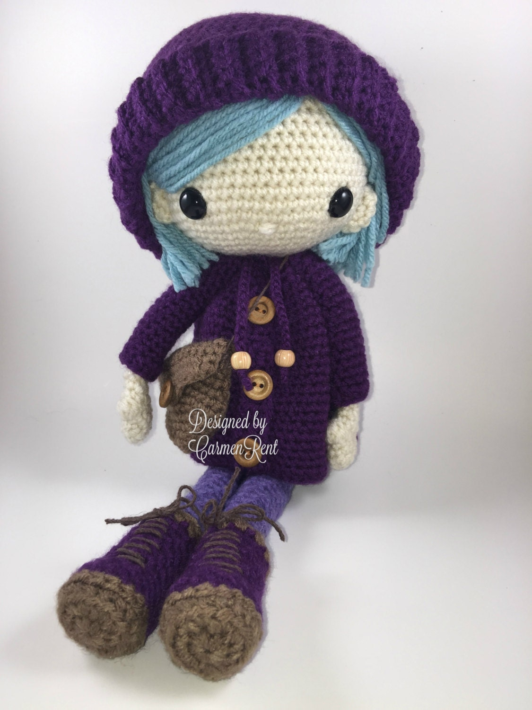 Amigurumi Doll Pdf : Emilia amigurumi doll crochet pattern pdf from