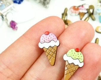 tiny icecreams for your ears // sweet stud earrings
