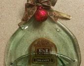Slumped Brandy Bottle Platter