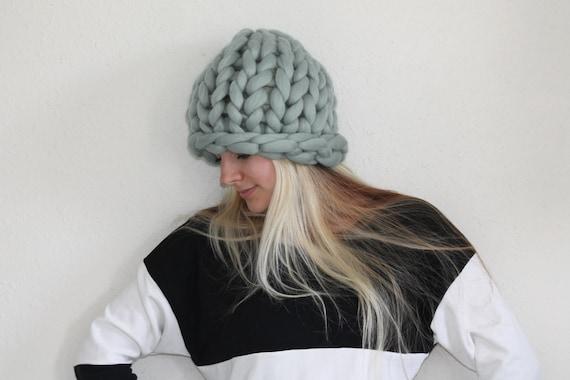 Robustní klobouk, robustní pletené čepice, čepice, pletená čepice, pletené čepice, Super robustní Hat Slouchy čepičku, pletené vlny Hat, Wool Hat, Merino Wool Hat