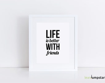 Friendship Quotes, Friend Quotes, Friendship art, friendship gifts, gift for friend 50th birthday, inspiring quotes, motivational quote, art