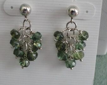 Green African Apatite Earrings  -  #259