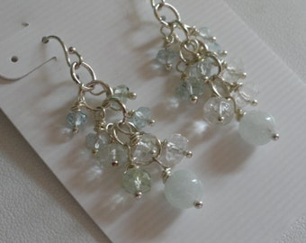 Aquarmarine Earrings  -  #290