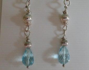 Blue Topaz Earrings  -  #296