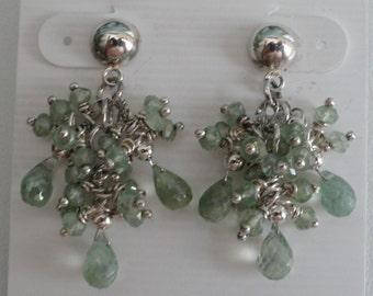 Green Mystic Quartz Earrings  -  #364