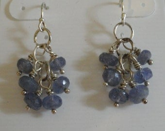 Tanzanite Earrings  -  #417