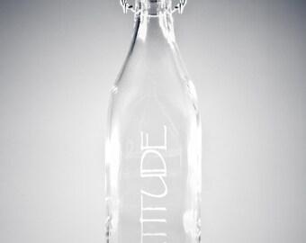 Gratitude Glass Water Bottle