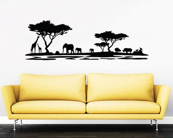 Safari Wall Decal Etsy - Vinyl decals for walls etsy