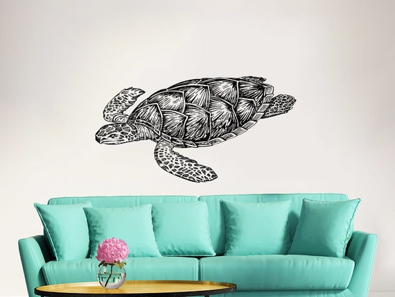 turtle wall decal vinyl sticker decals tortoise tortoiseshell ninja turtles wallsticker med leonardo kun 149
