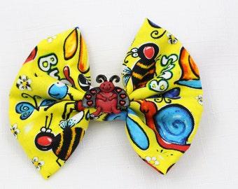Playful Bug Hair Bow - Small
