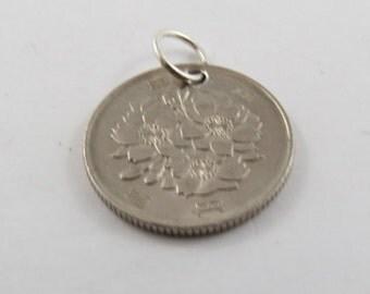Japanese 100 Yen Coin Necklace or Pendant