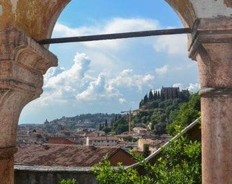 Italian landscape photography, Verona, Italy, home decor, wall print, travel photography, Europe, pretty view, Italian countryside