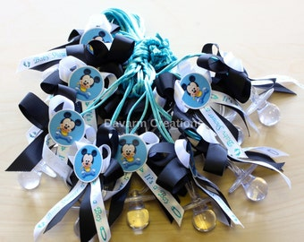 Mickey Mouse Baby Shower Necklace Favors Dozen/Mickey Mouse Baby/Mickey  Mouse Favors/