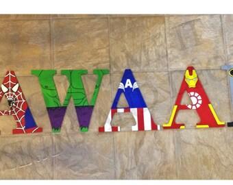 """9.5"""" Superhero Letters"""