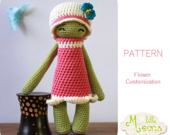 Crochet PATTERN - Flower customization Little Meons - Amigurumi pattern, crochet amigurumi pattern, crochet flower, flower pattern
