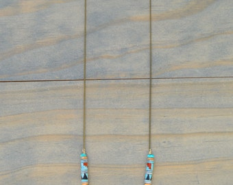Native American Hand Painted Bead Necklace