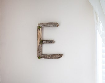 Wood Letter, Driftwood Letter, Rustic Home Decor, Woodland Nursery, Forest Nursery, Woodland Decor, Rustic Wall Decor, Wall Letter