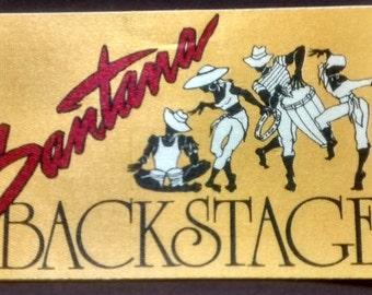 Santana Backstage Pass Satin! Authentic Vintage Mid 80's!