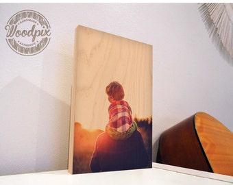Custom Photo on Wood – Customised Wood Picture, Personalized Photo on Wood, Custom Wood Wall Art, Wood Anniversary Gift