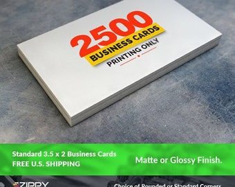 "2500 Standard Printed Business Cards 3.5"" x 2"",Business Cards Printing Rounded Corners, Matte or Glossy"