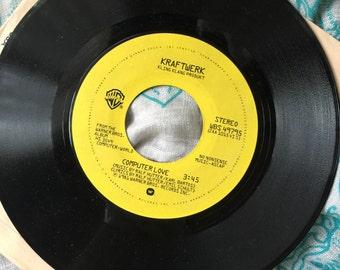 "SALE-Vintage RARE 1981 Kraftwork 45 ""Computer Love"" and ""Numbers"""
