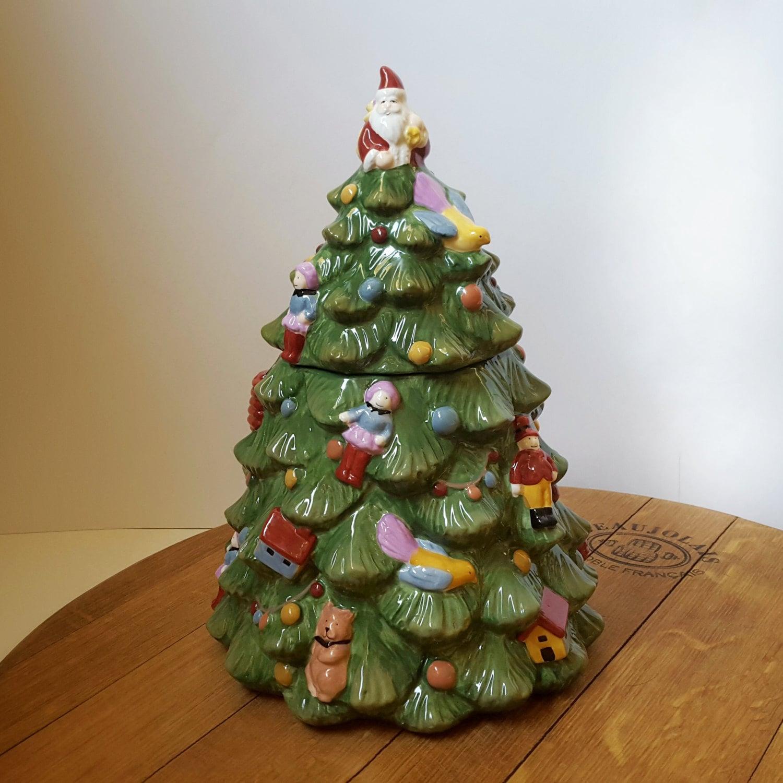 Spode Christmas Tree Sale: HOLIDAY SALE Spode Porcelain Christmas Tree Cookie Jar 12