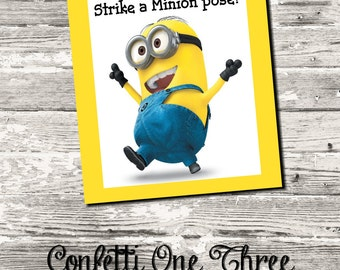Instant Download Minions Photo Booth Sign Digital