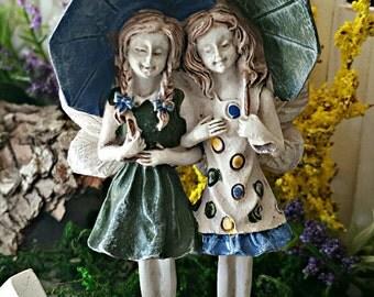 Miniature Fairies Ava & Grace with Umbrellas