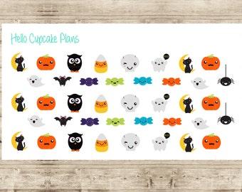 Kawaii Halloween Characters Planner Stickers