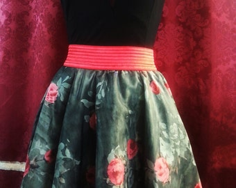 full skirt with elastic waist/skirt with elastic waist