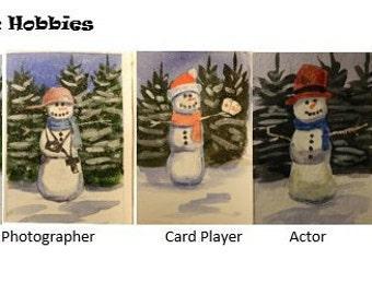 Snow Folk Christmas Cards