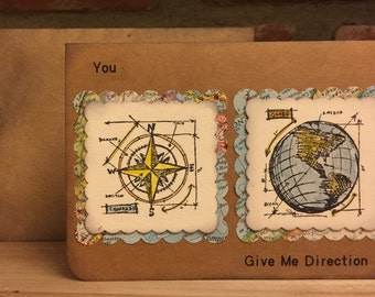 You Give Me Direction Handmade Card