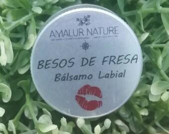 "Artisan lip balm ""Strawberry kisses"" (Handmade lipbalm ""strawberry kisses"")"